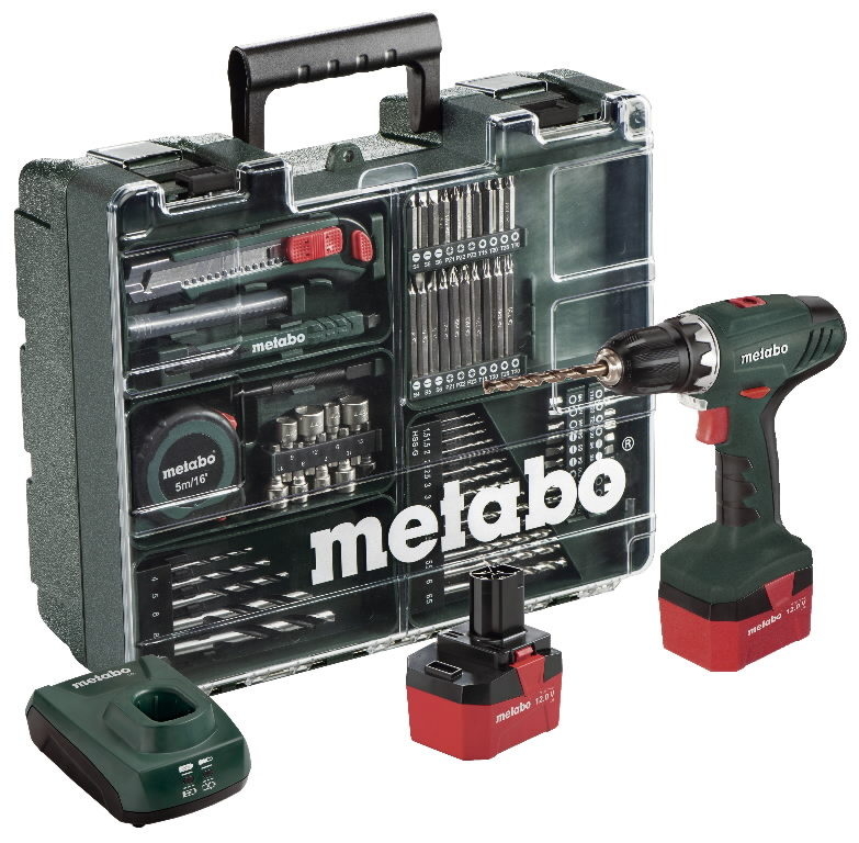 Metabo BS 12 NiCd Workshop, 2x1,7 Ah аккумуляторный шуруповерт Screwdrivers accumulator