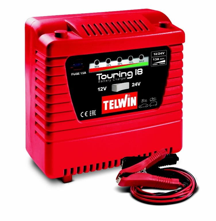 Зарядные устройства автомобильные - Telwin TOURING 18 (12/24V) Зарядное устройство для аккумуляторов
