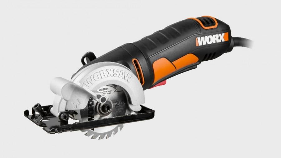 WORX WX423 Kompaktais ripzāģis Galvenās priekšrocības Koka, metāla, flīžu, ģipša un plastmasas zāģēšanai Kompaktais izmērs atvieglo piekļuvi grūti sasniedzamām