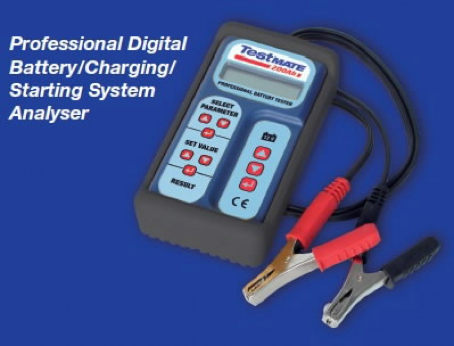TECMATE TESTMATE 200 Ah 12 V Akumulatora pārbaudes ierīce Auto lādēšanas ierīces