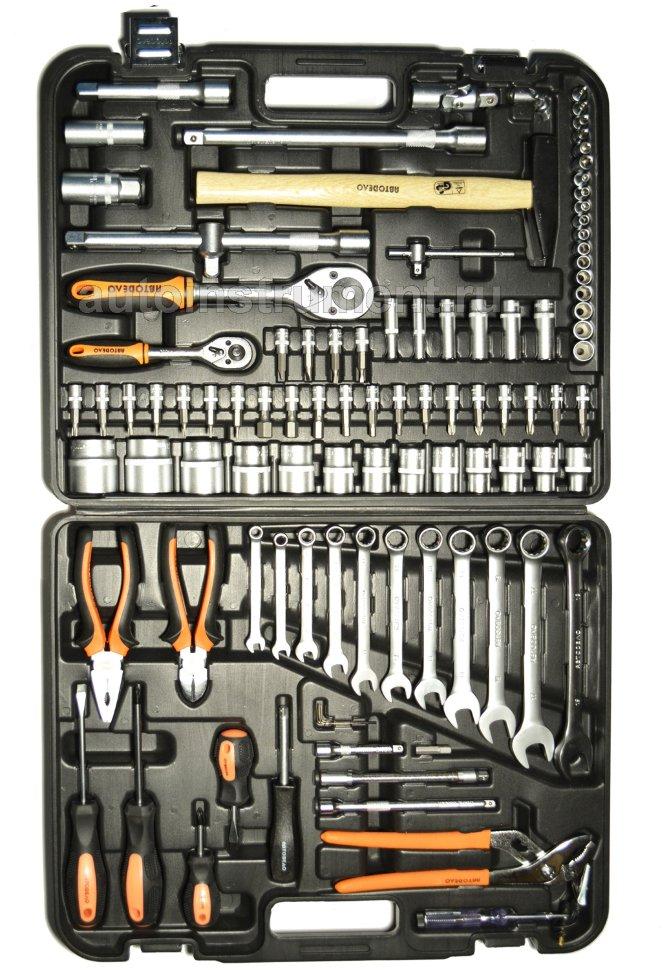 набор инструмента 101пр. 1/2DR 1/4DR АвтоDело (39899) - набор инструмента чемодан - Наборы инструмента