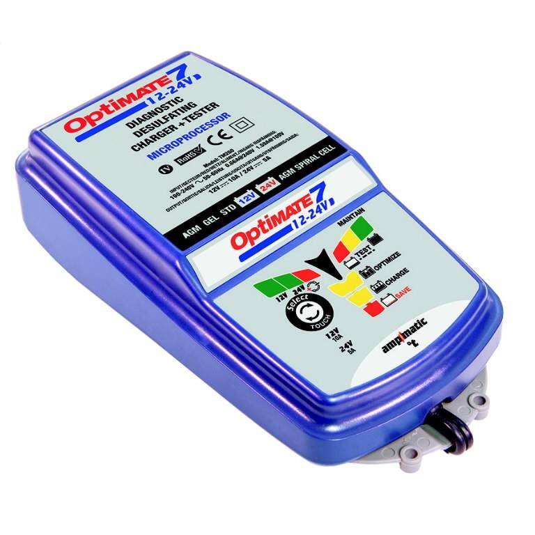 TECMATE  OptiMate OptiMATE7 12V-24V 3 - 240Ah 24v -120Ah Ladetājs Auto lādēšanas ierīces