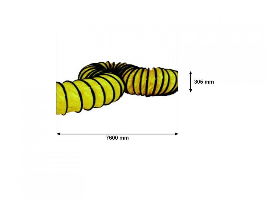 Дизельные обогреватели - Lokanais karsta gaisa pārvads 305 mm x 760 cm BL 6800