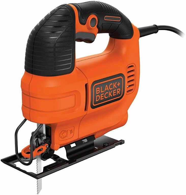 Black & Decker Jigsaw KS701EK / 70 mm / 520W Power: 520 W Strokes: 0 - 3000 /min Bevel cut: 0-45° Cutting depth: wood - 70 mm steel - 5 mm aluminium - 15 mm Stroke lenght: 19 mm Tool-free blade