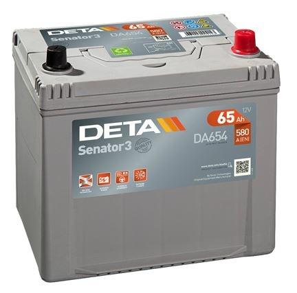 Аккумуляторы - Авто аккумулятор DETA SENATOR3 AK-DA654 12V/65Ah/580A - klemma