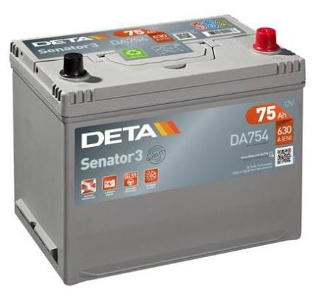 klemma - Авто аккумулятор DETA SENATOR3 AK-DA754 12V/75Ah/630A - Аккумуляторы