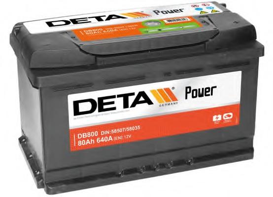 klemma - Авто аккумулятор Deta Power AK-DB800 12V/80Ah/640A - Аккумуляторы
