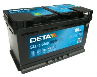 Аккумуляторы - Авто аккумулятор DETA AGM AK-DK800 12V/80Ah/800A - klemma