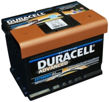 Auto akumulators Duracell Advanced AK-DU-DA62 62Ah 540A Akumulatori