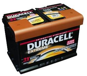 latvians autos veikals - Akumulatori - Auto akumulators Duracell Extreme AGM AK-DU-DE70AGM 70Ah 720A
