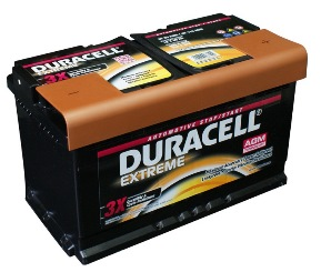 Akumulatori - latvians autos veikals - Auto akumulators Duracell Extreme AGM AK-DU-DE80AGM 80Ah 800A