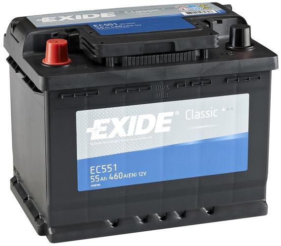Auto akumulators EXIDE CLASS AK-EC551L 12V/55Ah 460A - Akumulatori - latvians autos veikals