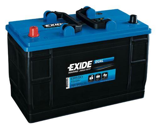 Auto akumulators EXIDE Dual AK-ER550 115Ah/760A/ ER 550 AKB - dual - Akumulatori