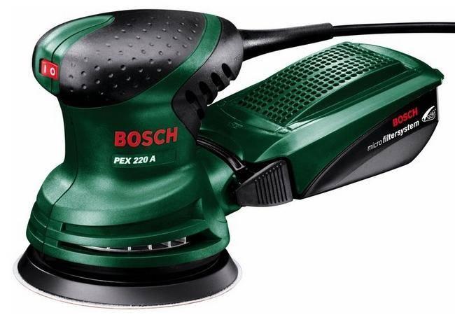 Bosch PEX 220 A ekscentra slīpmašīnas Slīpējamās iekārtas
