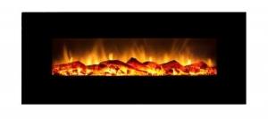 """Mājai Elektriskie kamīni - FLAMMIFERA Panorāmas elektriskais kamīns WSG03 33"""" - bio skidrums bio kaminiem"""