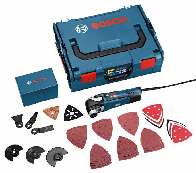 Bosch GOP 300 SCE Daudzfunkciju instruments Tehniskā informācija GOP 300 SCE Tehniskie dati Dzinēja jauda: 300 W Darbības ātrums tukšgaitā: 8000 - 20000 min.-1 Svārstību leņķis pa