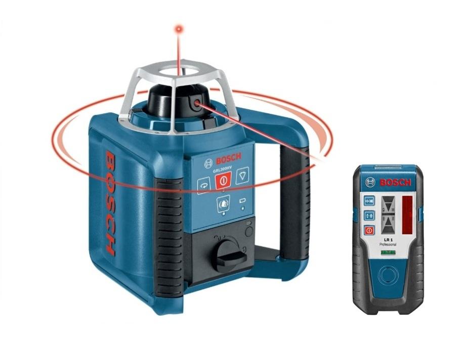 Уровни лазерные - Bosch GRL 300 HV set Ротационные лазерные нивелиры + Лазерный приёмник