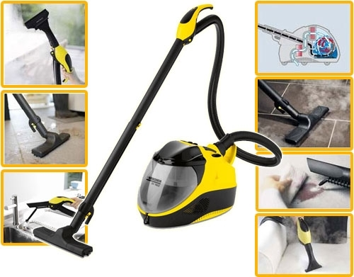 karcher sv 7 2200 w 3 in 1 steam cleaner vacuum cleaning drying ebay. Black Bedroom Furniture Sets. Home Design Ideas