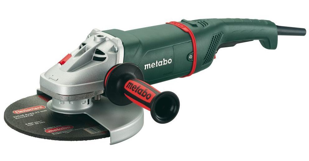 Metabo WX 24-230 Quick leņķa slīpmašīna Vārpstas fiksācijas Izturīgs Metabo Maraton motors Pagriežams rokturis Aizsarga regulēšana bez atslēgas Starta strāvas ierobežotājs Metabo