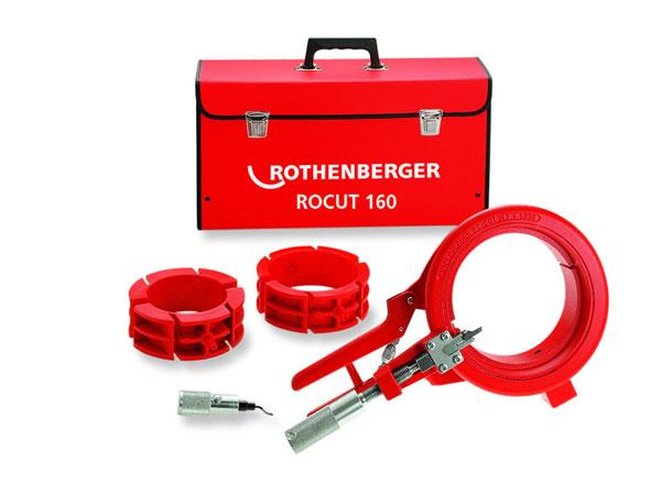 набор инструмента чемодан - Ножницы для пластиковых труб - Инструмент для резки и снятия фаски ROCUT 160, 110-160 мм