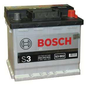 Auto akumulators Bosch S3 002 45Ah Akumulatori