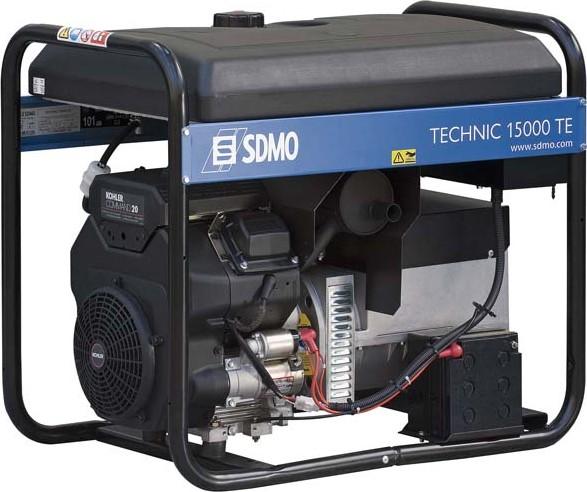 Генераторы - электро автолебедки в литве - TECHNIC 15000 TE генератор SDMO