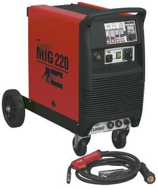 MIG/MAG полуавтомат Telwin DIGITAL MIG 220 - Сварочные аппараты - горелка газовая для сварки