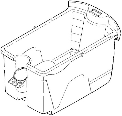 Putekļu sūcēju aksesuāri - Karcher spainis (DS 5500, DS 5600) - plastmasas spainis 20l