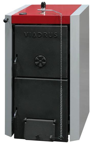 Твeрдотопливные котлы - VIADRUS U 22 10 D универсальный чугунный твёрдотопливный котёл