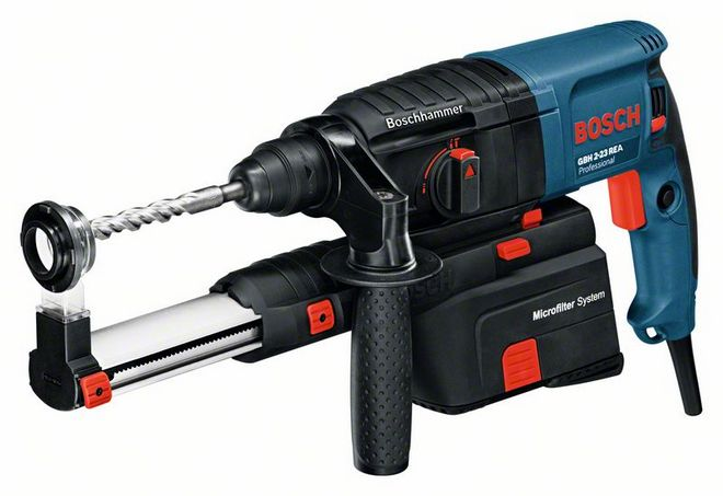 Bosch GBH 2-23 REA Hammers with dust, with patron SDS-plus Характеристики GBH 2-23 REA Professional Номинальная потребляемая мощность 710 Вт Макс.