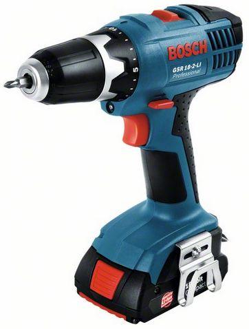 Bosch GSR 18-2-Li 2x1,3 Ah Akumulatora skrūvgriezis-urbjmašīna Akumulatoru urbjmašīnas