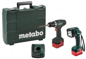 Metabo BS 12 NiCd, 2x1,7 Ah + lampa ULA 12  akumulatora urbjmašīna Instrumenti - ELEKTROINSTRUMENTI - Skrūvgrieži akumulatoras