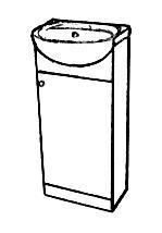 koka pirts mēbeles - Шкафчики с раковиной - Шкафчик с раковиной SOLO